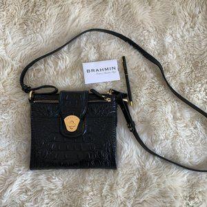 Brahmin Black Leather Cross Body Shoulder Bag NEW